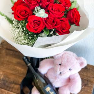 Roses, Teddy Chocolates